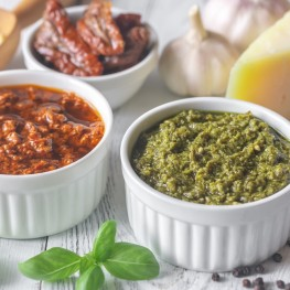 Gourmet Vegetables, Tomatoes, Pesto and Olives