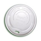 8oz Compostable Hot Cup Lid x 1000