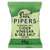 Pipers Burrow Hill Sea Salt and Vinegar 24 x 40g