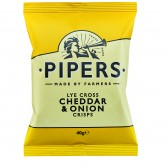Pipers Lye Cross Cheddar and Onion 24 x 40g