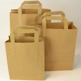 Small Brown Paper Carriers x 250