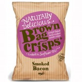 Brown Bag Smoked Bacon Crisps 40g