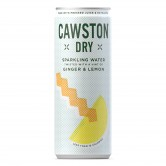 Cawston Dry Ginger & Lemon Spring Water 24x250ml